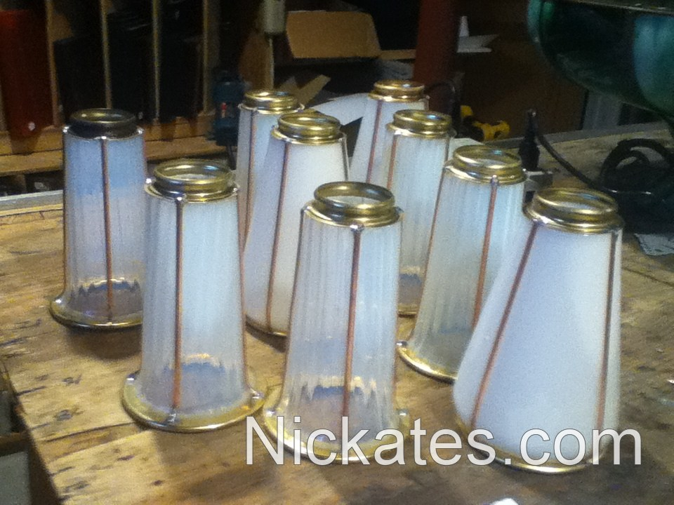 Antique lighting restoration